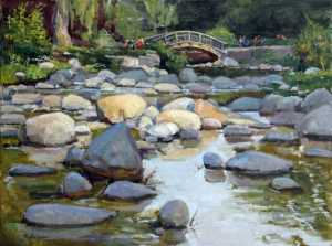 Basics of a Balanced Background in Landscape Oil Paintings